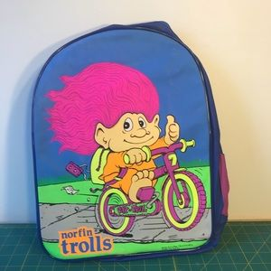 90s Neon Rave Club Kid Trollz Backpack